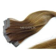 PROMOÇÃO 20% - Mega Hair Fita Adesiva Cabelo Humano Classic Ombre Castanho #2/6 - 20 peças 55cm 50g