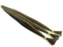 Cabelo Humano Classic Castanho Escuro Natural com Loiro Claríssimo - 55cm 20g
