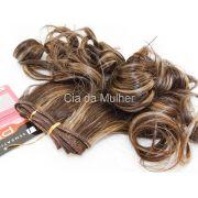 PROMOÇÃO CARNAVAL - Cabelo Orgânico Honey Curl Castanho Dourado 35cm em Tela - Sensationnel PRO 10