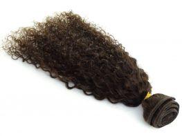 Tela Costurada Cabelo Humano Classic Cacheado Castanho Escuro #3 - 55cm 100g