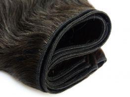 COMPRE 1 LEVE 2 Tela Costurada Cabelo Humano Premium Ondulado Castanho Escuro Natural - 45cm 100g