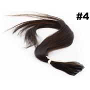 PROMOÇÃO 20% - Mega Hair Fita Adesiva Classic Castanho Médio 55cm - 10 peças - Cor 4
