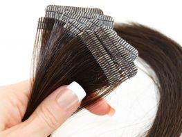 Mega Hair Fita Adesiva Cabelo Humano Premium Castanho Médio #4 - 10 peças 45cm 20g