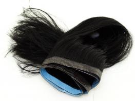 Duas Faixas Mega Hair Fita Adesiva Cabelo Humano Gold Preto Ondulado - 35cm 30g