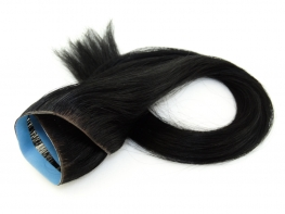 Invisível Faixa Contínua Mega Hair Fita Adesiva Cabelo Humano Gold Preto - 45cm 20g
