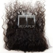 Mega Hair Cacheado Fita Adesiva Premium - Cor Natural