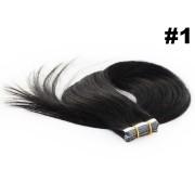 Mega Hair Fita Adesiva Classic Preto - Cor 1 - PROMOÇÃO