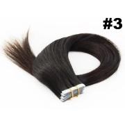 Mega Hair de Fita Adesiva  Classic  Cor#3- Castanho escuro