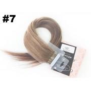 Mega Hair Fita Adesiva Classic Loiro Escuro - Cor 7 - PROMOÇÃO