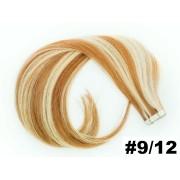 Mega Hair Fita Adesiva Classic Loiro Mechado 55cm - Cor 9/12 - PROMOÇÃO
