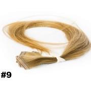 Mega Hair Fita Adesiva Classic loiro Claro 55cm - 10 peças - Cor 9 - PROMOÇÃO