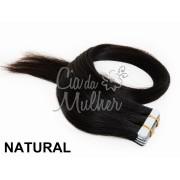 Mega Hair Fita Adesiva Classic Natural- Cor Natural - PROMOÇÃO