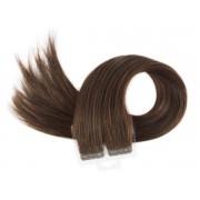 Mega Hair Fita Adesiva Castanho Médio Cor 4 Premium