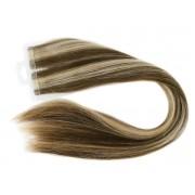 Mega Hair Fita Adesiva Loiro Mechado com Castanho Claro Cor 6/10 Premium