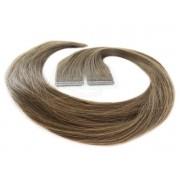 Mega Hair Fita Adesiva Castanho Claro Cor 6 Premium