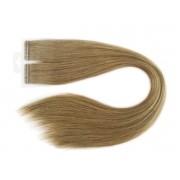 Mega Hair Loiro Escuro Fita Adesiva Premium - Cor 7