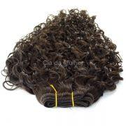 Mega Hair de Tela Cacheado Castanho Escuro #3