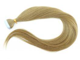 Mega Hair Fita Adesiva Cabelo Humano Classic Loiro Claro #9 - 20 peças 65cm 60g