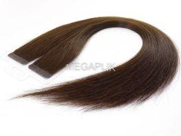 Mega Hair Fita Adesiva Cabelo Humano Premium Castanho Médio #4 - 20 peças 55cm 50g