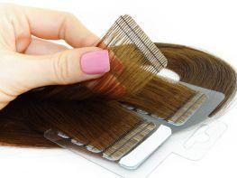 Mega Hair Fita Adesiva Cabelo Humano Premium Chocolate #66 - 20 peças 35cm 30g