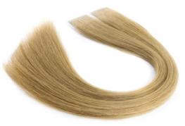 Mega Hair Fita Adesiva Cabelo Humano Premium Loiro Claro #9 - 20 peças 35cm 40g