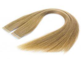 Mega Hair Fita Adesiva Cabelo Humano Premium Loiro Claro #9 - 20 peças 65cm 60g