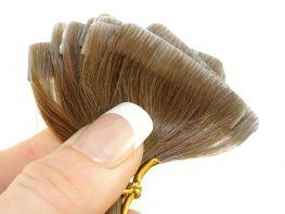 Mega Hair Invisível Cabelo Humano Loiro Médio Escuro #7 - 10 peças 55cm 25g
