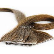 Mega Hair Invisível 10 Peças Castanho Claro #6 Cabelo Humano 45cm