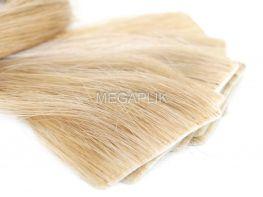 Mega Hair Invisível Cabelo Humano Loiro Claro #9 - 10 peças 45cm 20g