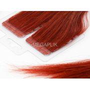 PROMOÇÃO 20% - Mega Hair Fita Adesiva Premium 20 peças Vermelho #98 Cabelo Humano 35cm, 45cm, 55cm e 65cm