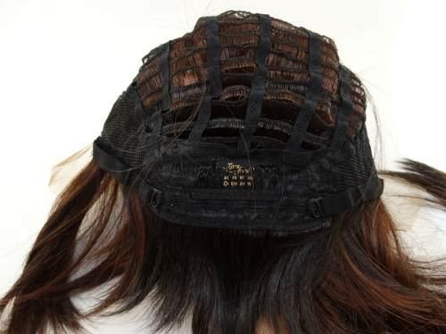 PROMOÇÃO CARNAVAL - Peruca Front Lace Chanel Fibra Futura Castanho Mechado - 30 cm