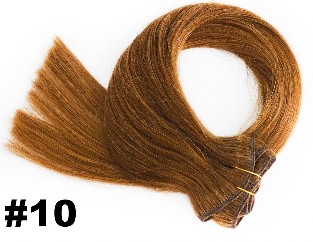 PROMOÇÃO NATAL 15% - Kit Aplique de Tic Tac Premium Loiro Escuro 55cm - cor #10 (tabela antiga) - 6 telas