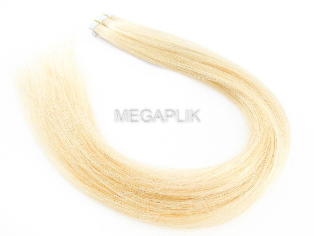 PROMOÇÃO NATAL 15% - Mega Hair Fita Adesiva Classic Loiro Claríssimo 55cm - Cor 10