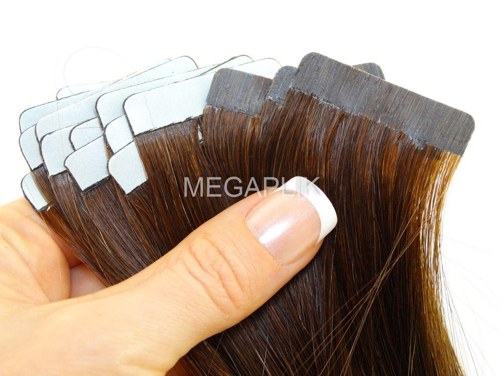 PROMOÇÃO NATAL 15% - Mega Hair Fita Adesiva Classic Castanho Ombre 55cm - Cor 2/6 (tabela antiga)