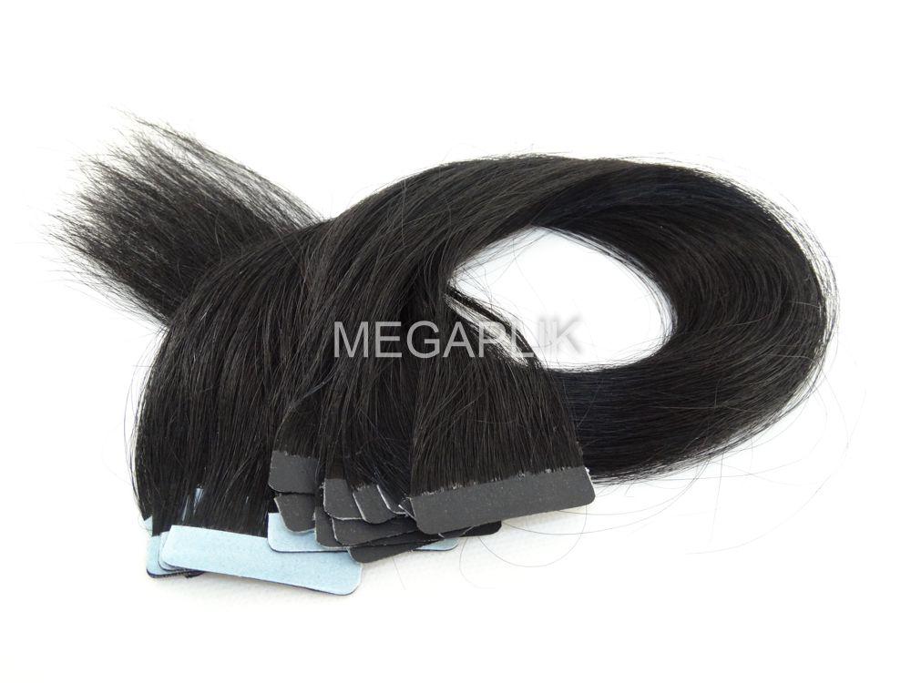 PROMOÇÃO NATAL 15% - Mega Hair Fita Adesiva Classic Preto - Cor 1