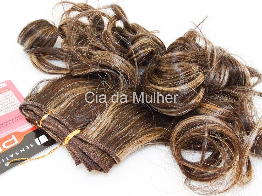PROMOÇÃO NATAL 15% - Cabelo Orgânico Honey Curl Castanho Dourado 35cm em Tela - Sensationnel PRO 10