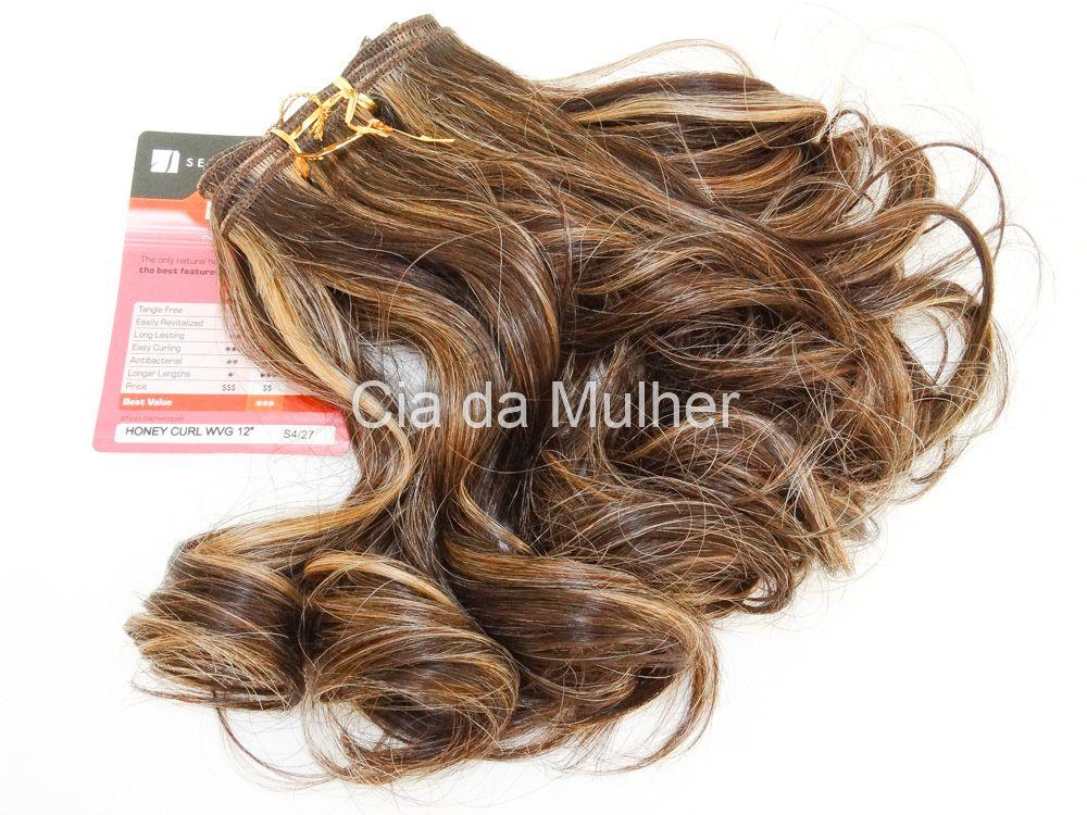 Cabelo Orgânico Honey Curl Castanho Dourado 35cm em Tela - Sensationnel PRO 10