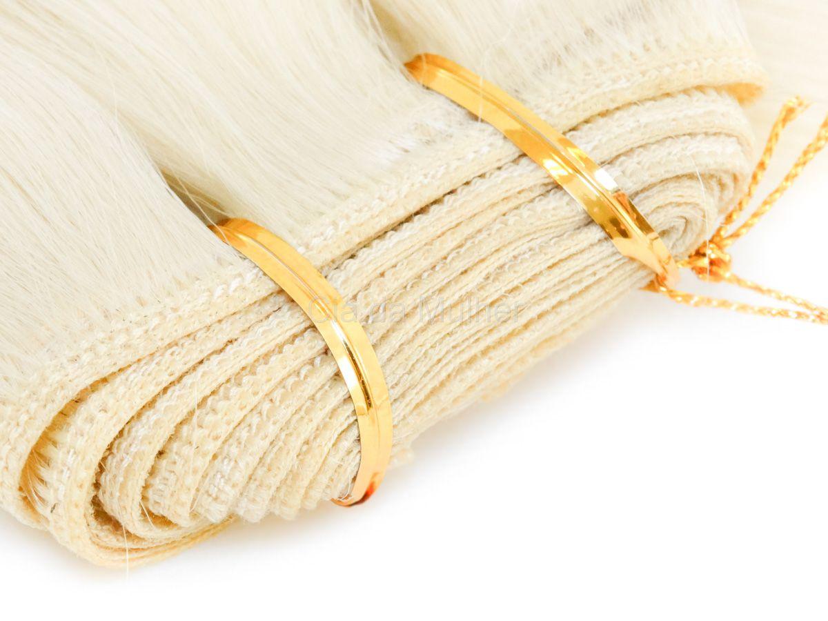Cabelo Orgânico Liso Loiro 60cm em Tela - Sensationnel PRO 10