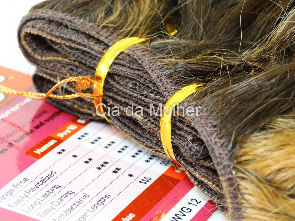 Cabelo Orgânico Spanish Castanho Dourado 35cm em Tela - Sensationnel PRO 10