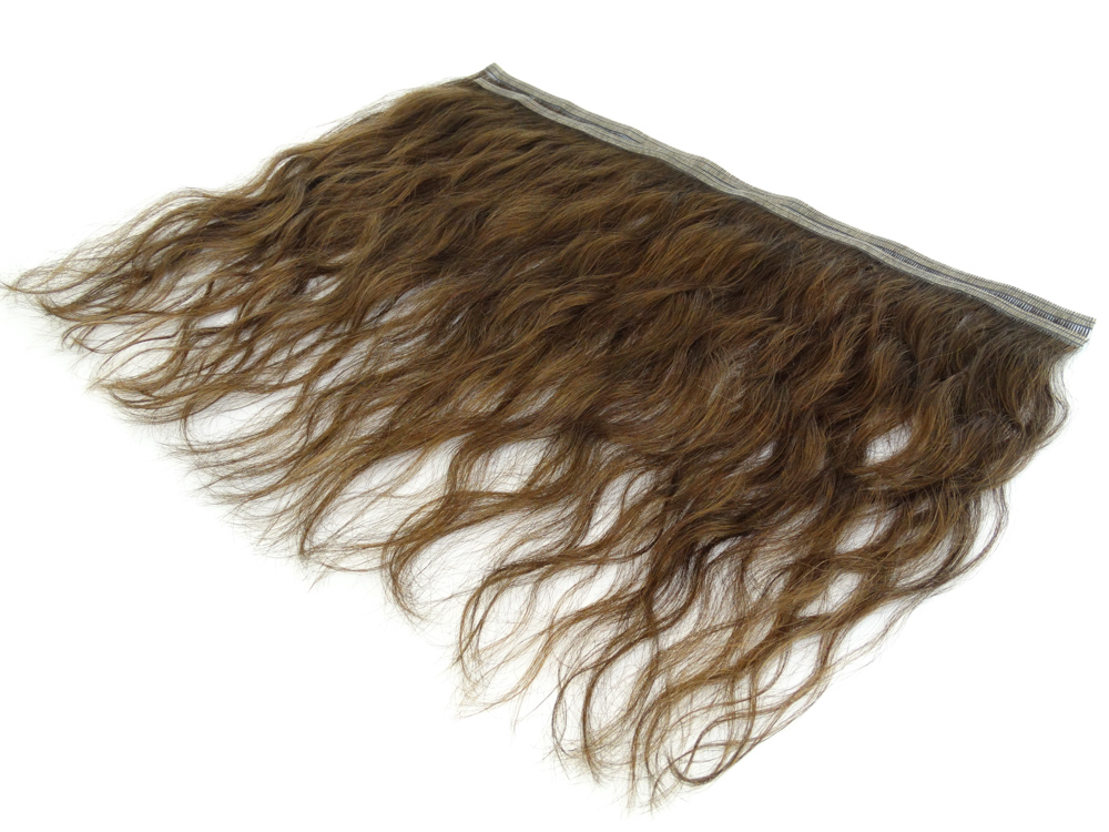 Duas Faixas Mega Hair Fita Adesiva Cabelo Humano Gold Castanho Claro - 35cm 30g