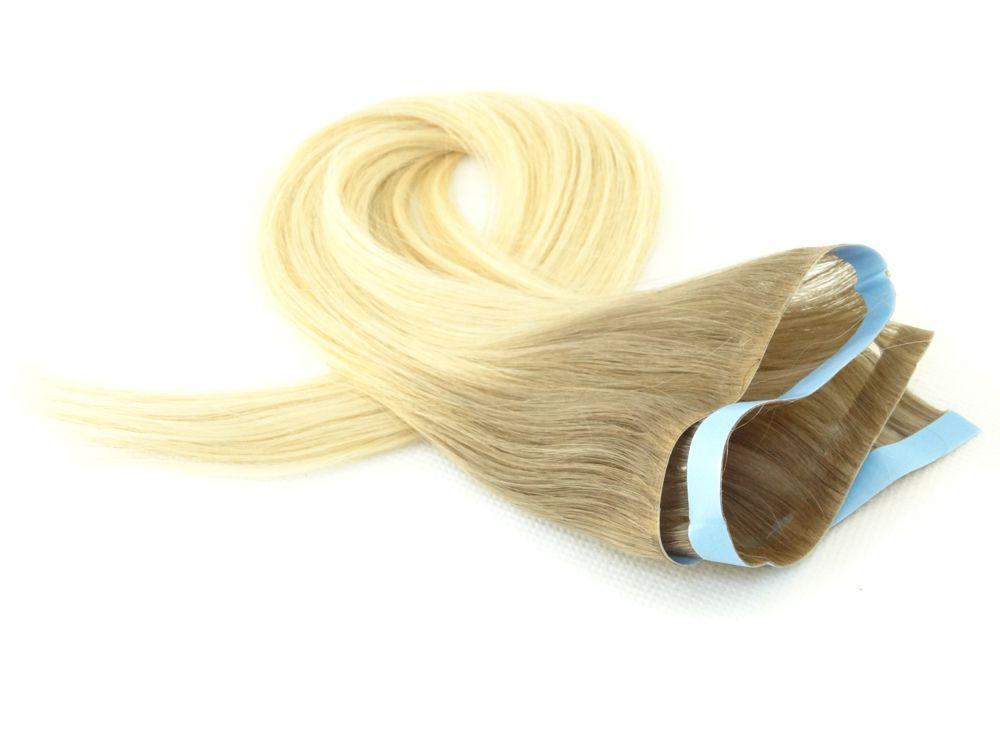 Faixa Contínua Mega Hair Invisível Fita Adesiva Cabelo Humano Esfumado Ombre #7/12 - 45cm 20g