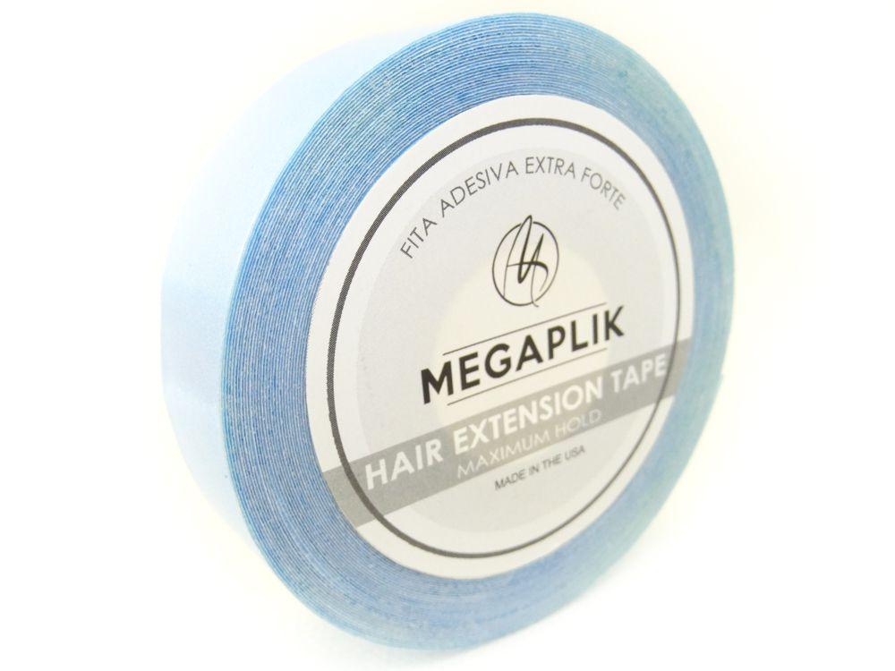 Fita Adesiva Extra Forte Megaplik - Rolo 11m Linha Azul - BRINDE 1 REMOVEDOR