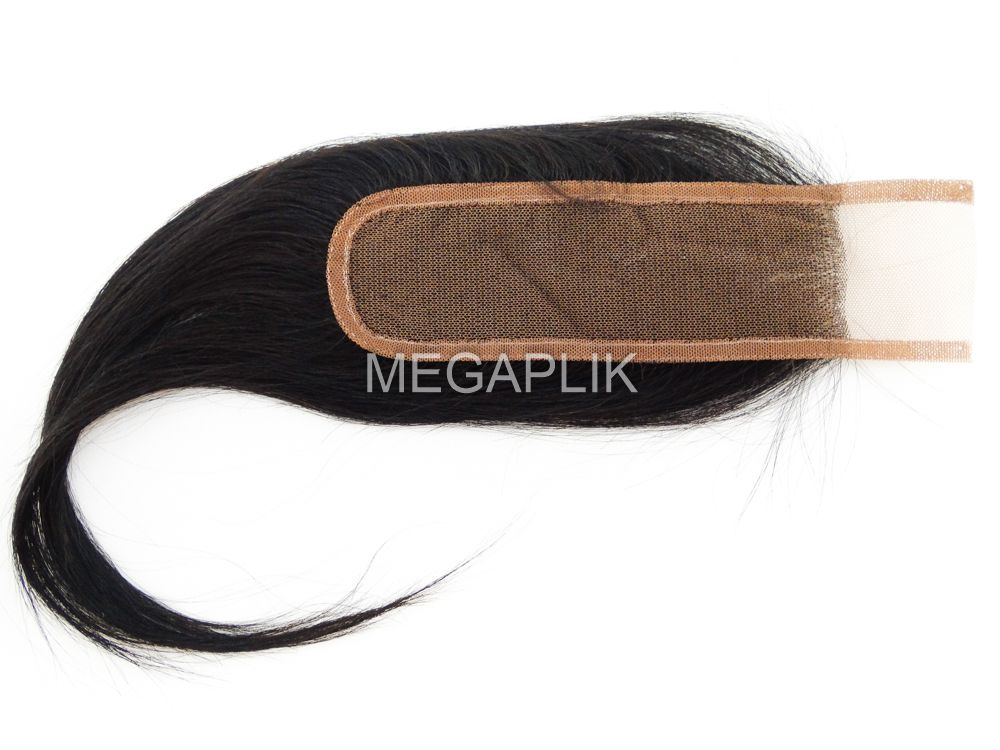 Top Closure 5x15cm Cabelo Humano 25cm Preto Natural