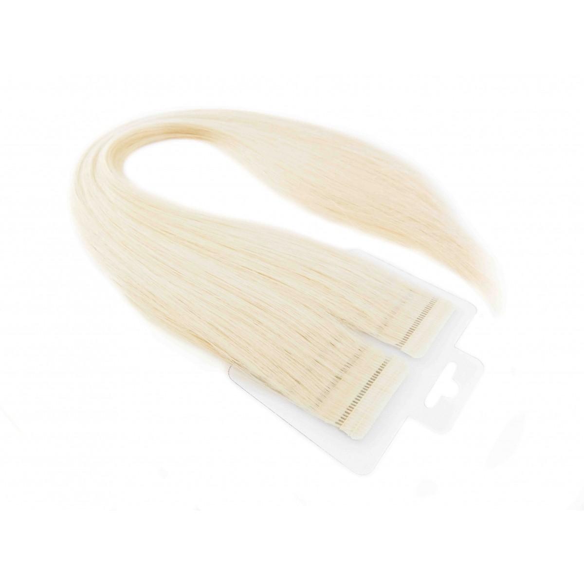 Mega Hair Loiro Platinado Fita Adesiva Premium - Cor 12