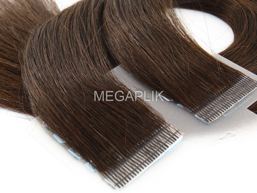Mega Hair Castanho Escuro Fita Adesiva Premium - Cor 3