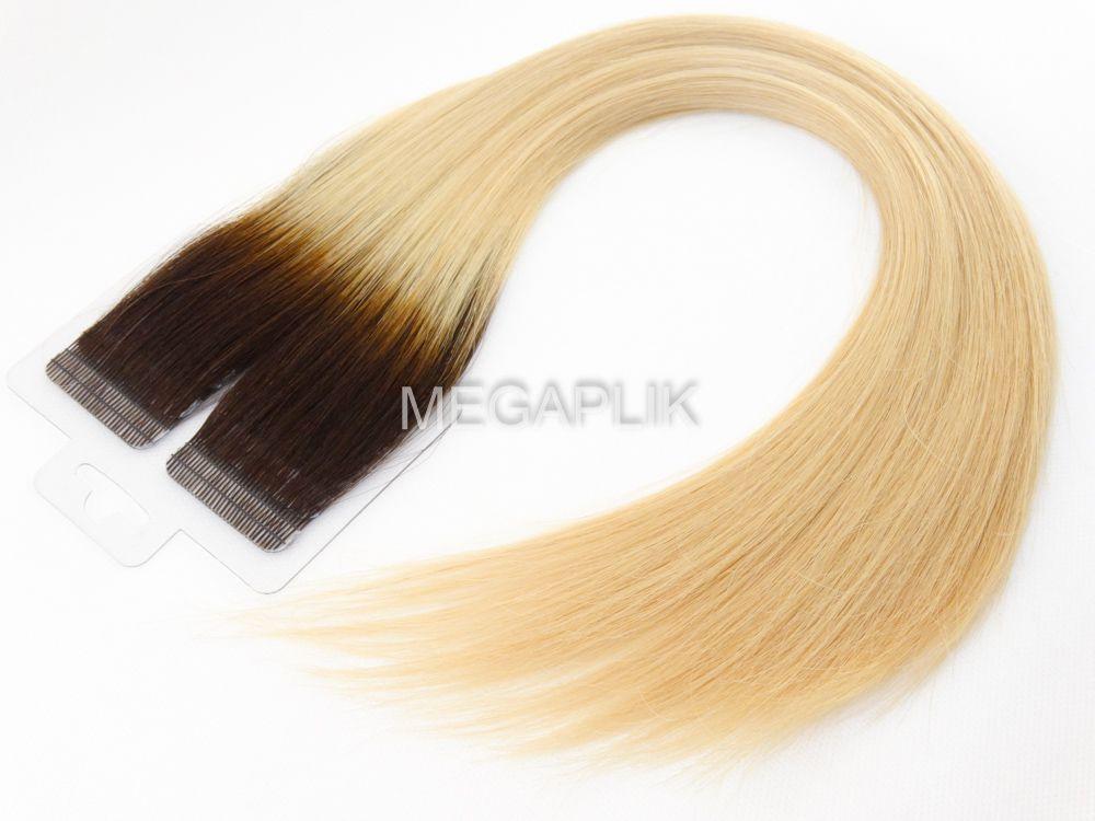 Mega Hair Castanho Ombre Fita Adesiva Premium - Cor 4/10
