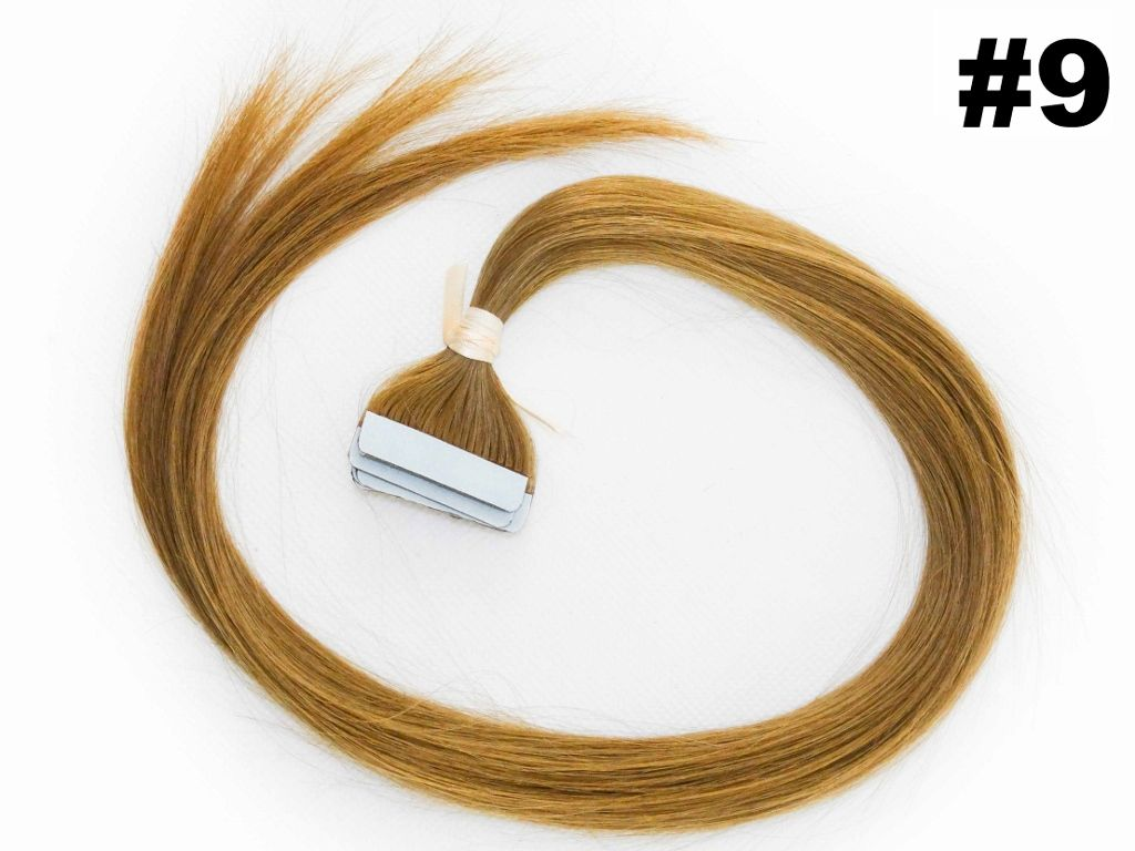 Mega Hair Fita Adesiva Classic loiro Claro 55cm - 10 peças - Cor 9