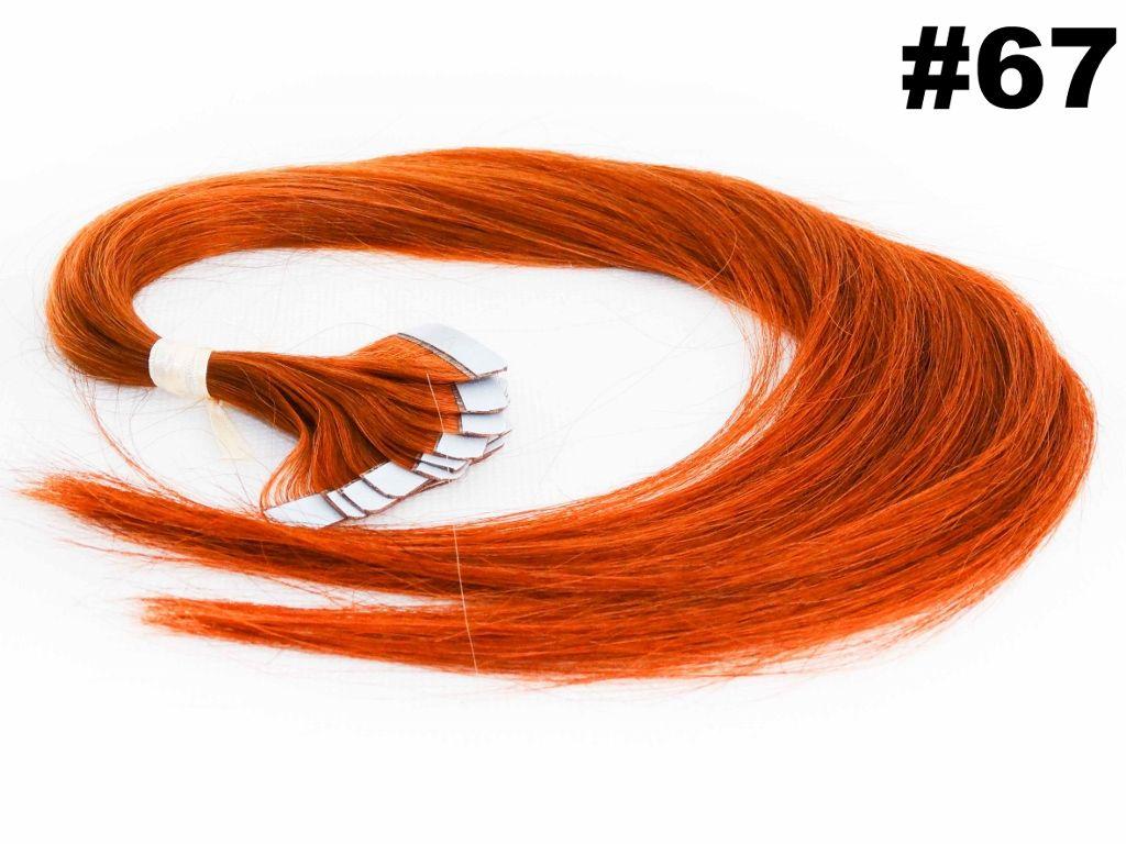 Mega Hair Fita Adesiva Classic Ruivo 55cm - 10 peças - Cor 67