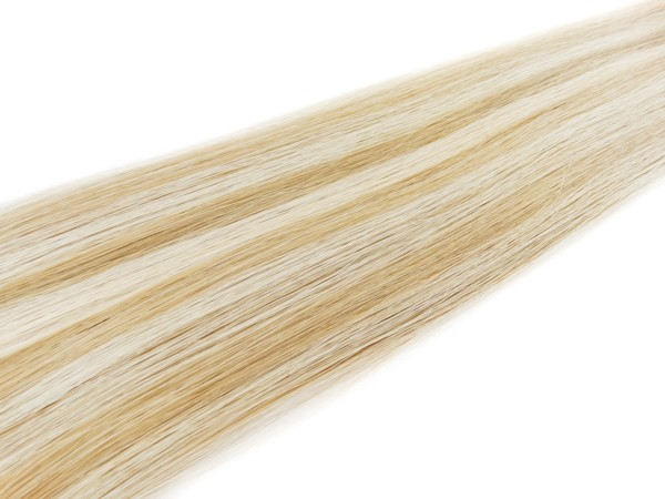 Mega Hair Loiro Mechado Fita Adesiva Premium - Cor 9/12