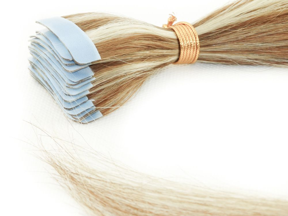 Mega Hair Fita Adesiva Cabelo Humano Classic Mechado #6/613 - 20 peças 55cm 50g